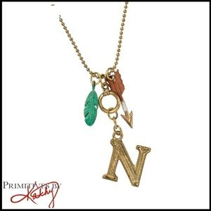 """Primitives By Kathy Initial """"N"""" Charm Necklace"""